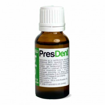 PresDent - zeliščno olje za nego dlesni